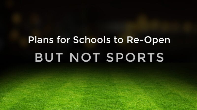 sports not re-opening with schools