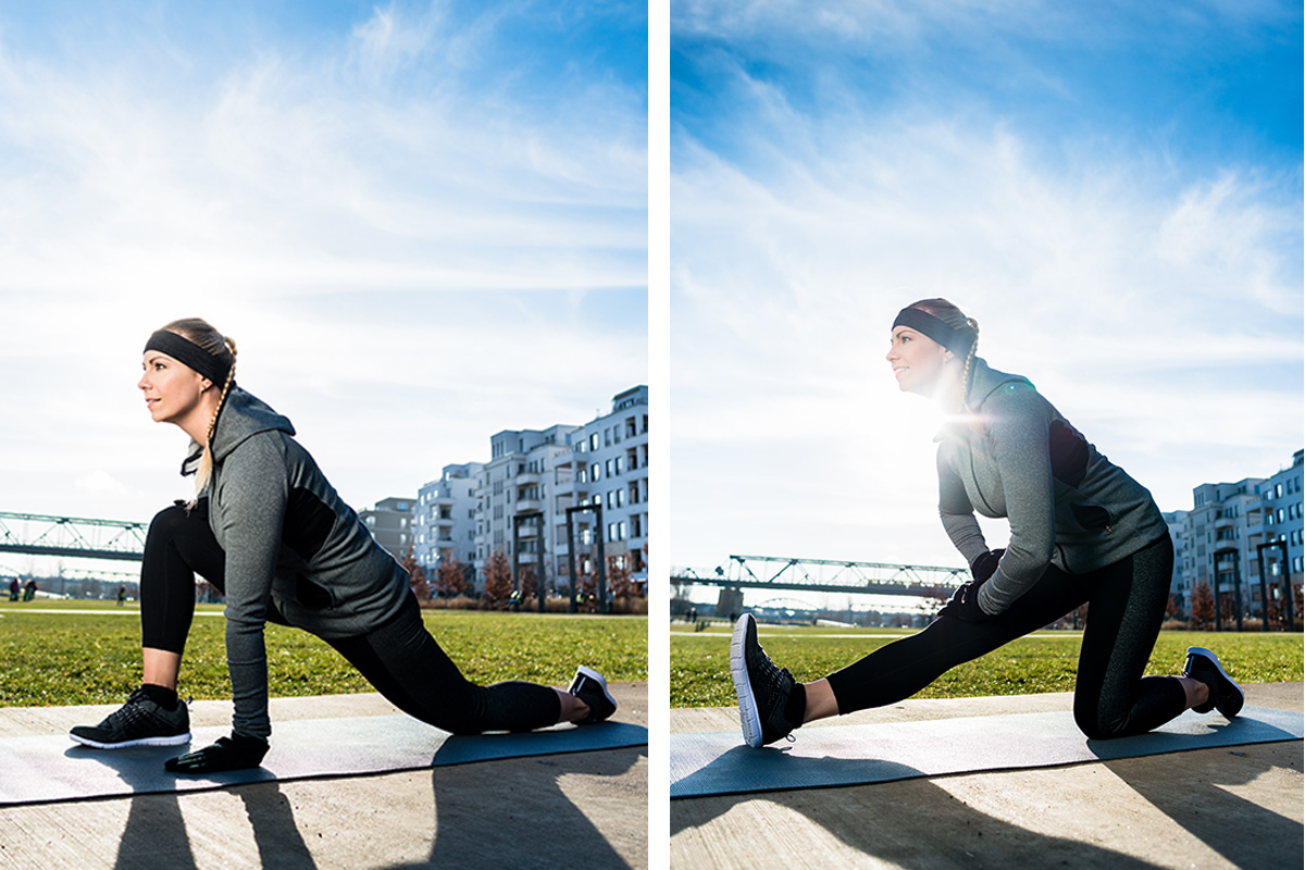 dynamic stretching is where you move joints and muscles through range of motion